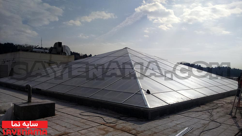 پوشش نورگیر با ورق پلی کربنات