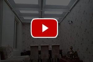 ویدئوی از پوشش سقف پاسیو