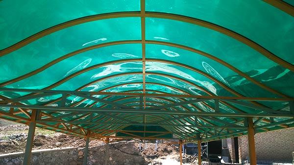 پوشش سقف با ورق های پلی کربنات