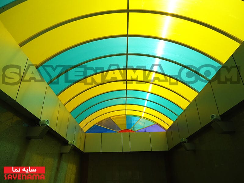 پوشش سقف پلی کربنات